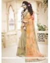 Radiant Net Orange Classic Designer Saree