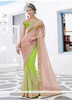 Irresistible Net Patch Border Work Classic Designer Saree