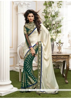 Dashing Viscose Green Classic Designer Saree