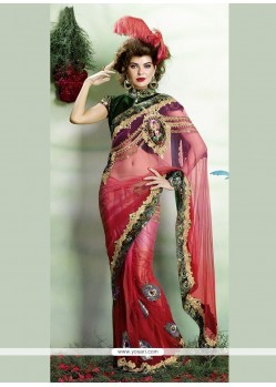 Tempting Embroidered Work Classic Designer Saree