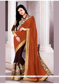 Innovative Embroidered Work Designer Saree