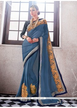 Dainty Grey Designer Saree