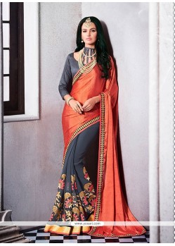Delectable Embroidered Work Georgette Designer Saree