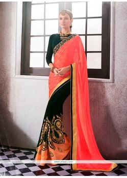 Subtle Patch Border Work Designer Saree