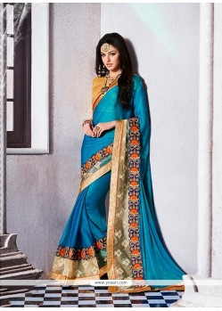 Remarkable Blue Designer Saree