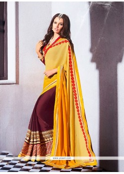 Competent Yellow Designer Saree