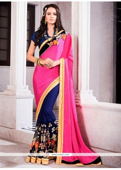 Energetic Georgette Embroidered Work Designer Saree