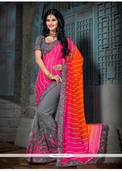 Spectacular Faux Chiffon Designer Saree
