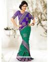 Markable Green Manipuri Silk Saree