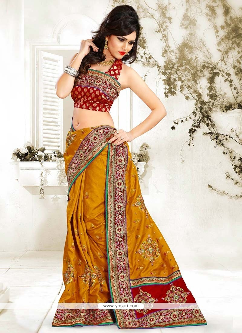 Magnificent Brown Manipuri Silk Saree