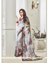 Charming Multi Colour Georgette Designer Saree