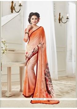 Ethnic Georgette Multi Colour Designer Saree