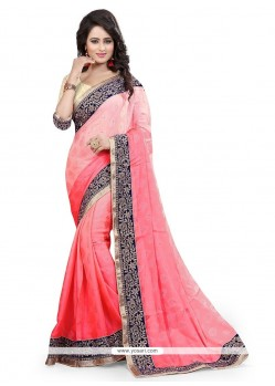 Charismatic Embroidered Work Jacquard Designer Saree
