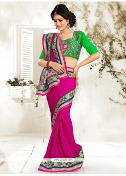 Magical Magenta Jacquard Saree