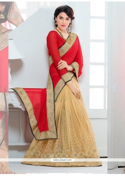Innovative Faux Chiffon Red Designer Saree
