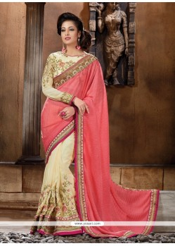 Intrinsic Cream Classic Designer Saree