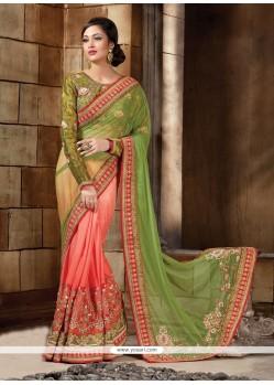 Princely Lycra Green Classic Designer Saree