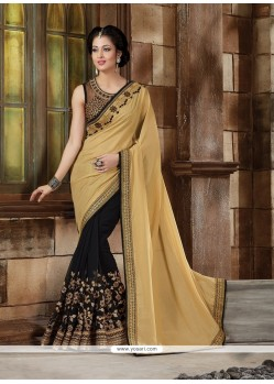 Stunning Georgette Patch Border Work Classic Designer Saree