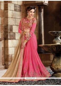 Attractive Patch Border Work Classic Designer Saree