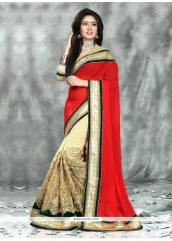 Peppy Patch Border Work Georgette Classic Designer Saree
