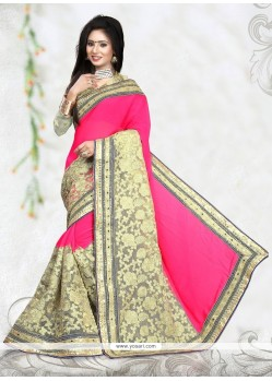 Elite Embroidered Work Net Classic Designer Saree