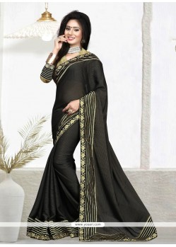 Modernistic Patch Border Work Classic Designer Saree