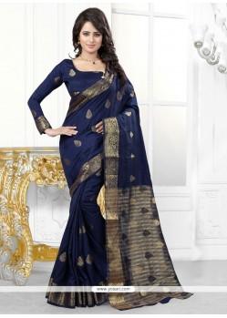 Exceeding Navy Blue Designer Saree