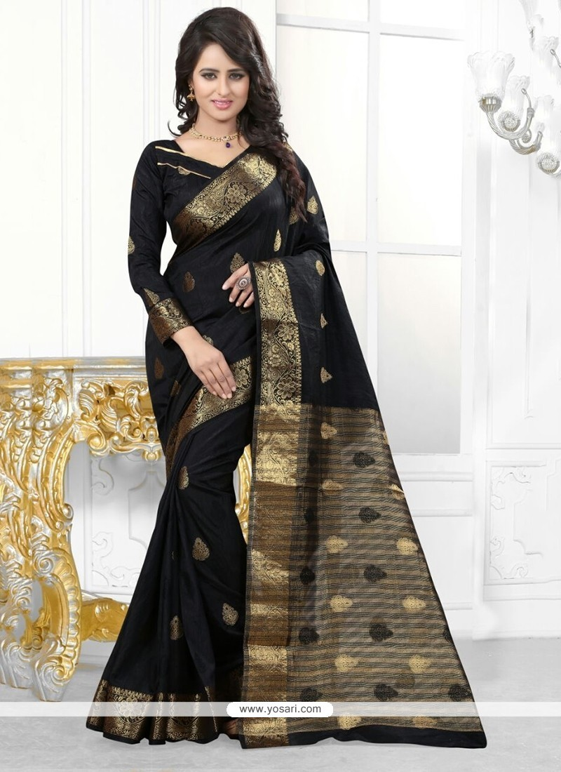 Breathtaking Patch Border Work Banarasi Silk Designer Saree