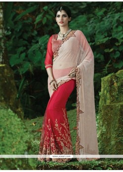 Winsome Lycra Embroidered Work Classic Designer Saree
