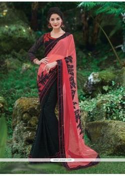 Cute Net Black Classic Designer Saree