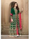 Imposing Banglori Silk Green Designer Floor Length Salwar Suit