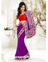 Girlish Purple Bhagalpuri Silk Saree