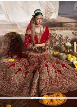 Bedazzling A Line Lehenga Choli For Bridal