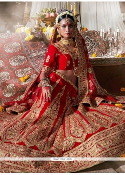 Picturesque Embroidered Work A Line Lehenga Choli