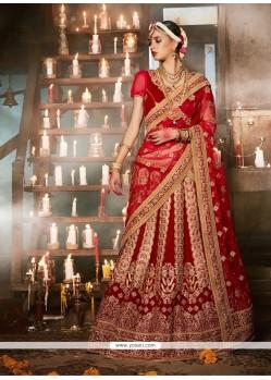 Snazzy Vasundhara Pattu Resham Work A Line Lehenga Choli