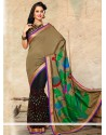 Black And Brown Silk Designer Saree