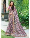 Lovely Grey Tissue Brasso Saree