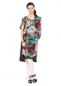 Capricious Multi Colour Georgette Party Wear Kurti
