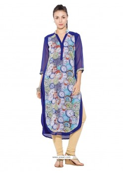 Stunning Blue Party Wear Kurti