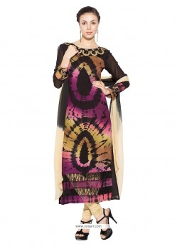 Exceptional Multi Colour Georgette Party Wear Kurti