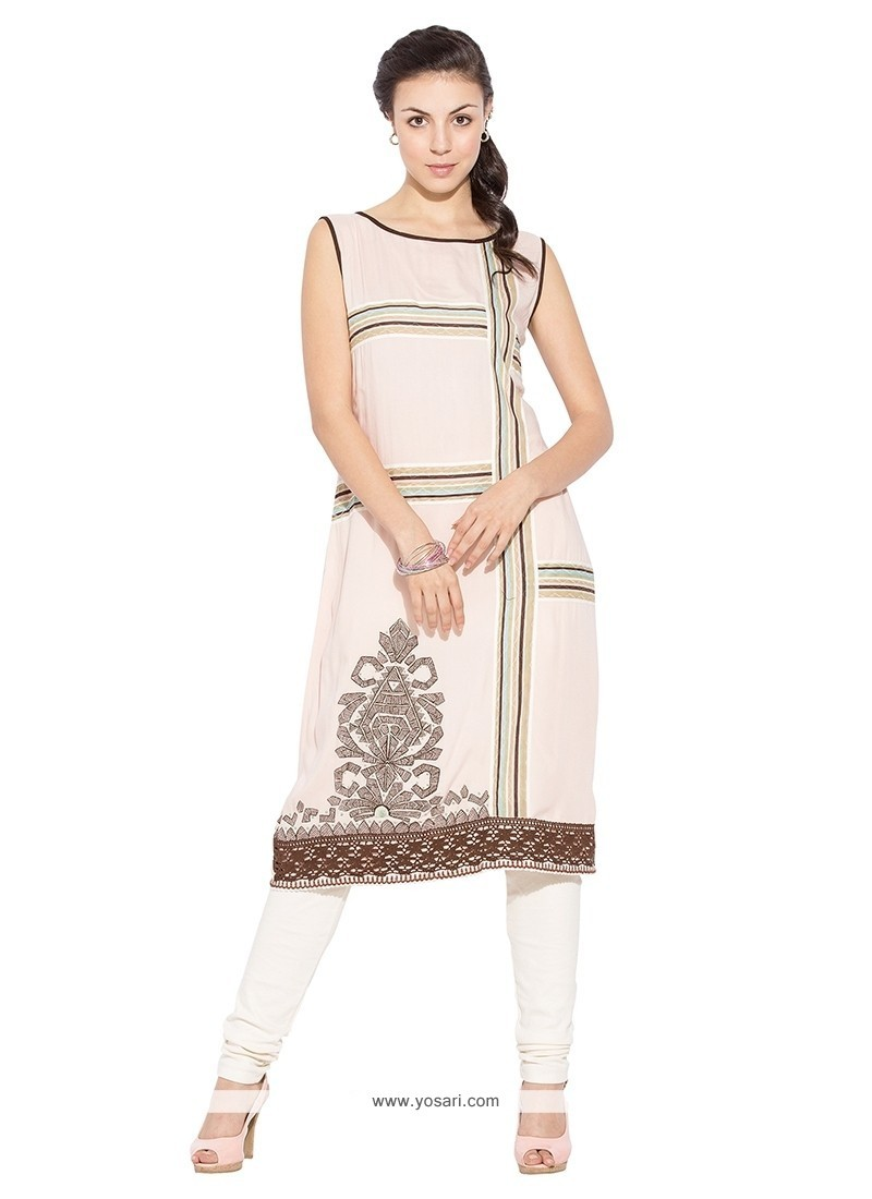 Appealing Embroidered Work Party Wear Kurti