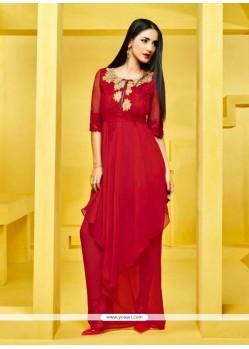Delightful Red Designer Kurti
