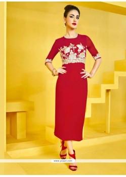 Savory Red Designer Kurti