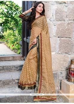 Opulent Beige Tissue Designer Saree