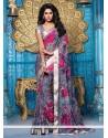 Grey Printed Lingaa Movie Style Saree