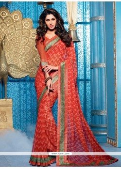 Orange Georgette Lingaa Style Saree