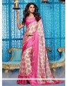 Elite Cream Georgette Lingaa Movie Style Saree