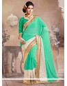 Glorious Green Faux Georgette Saree