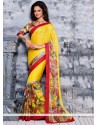 Magnificent Yellow Chiffon Saree