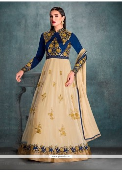 Sophisticated Georgette Patch Border Work Anarkali Salwar Kameez